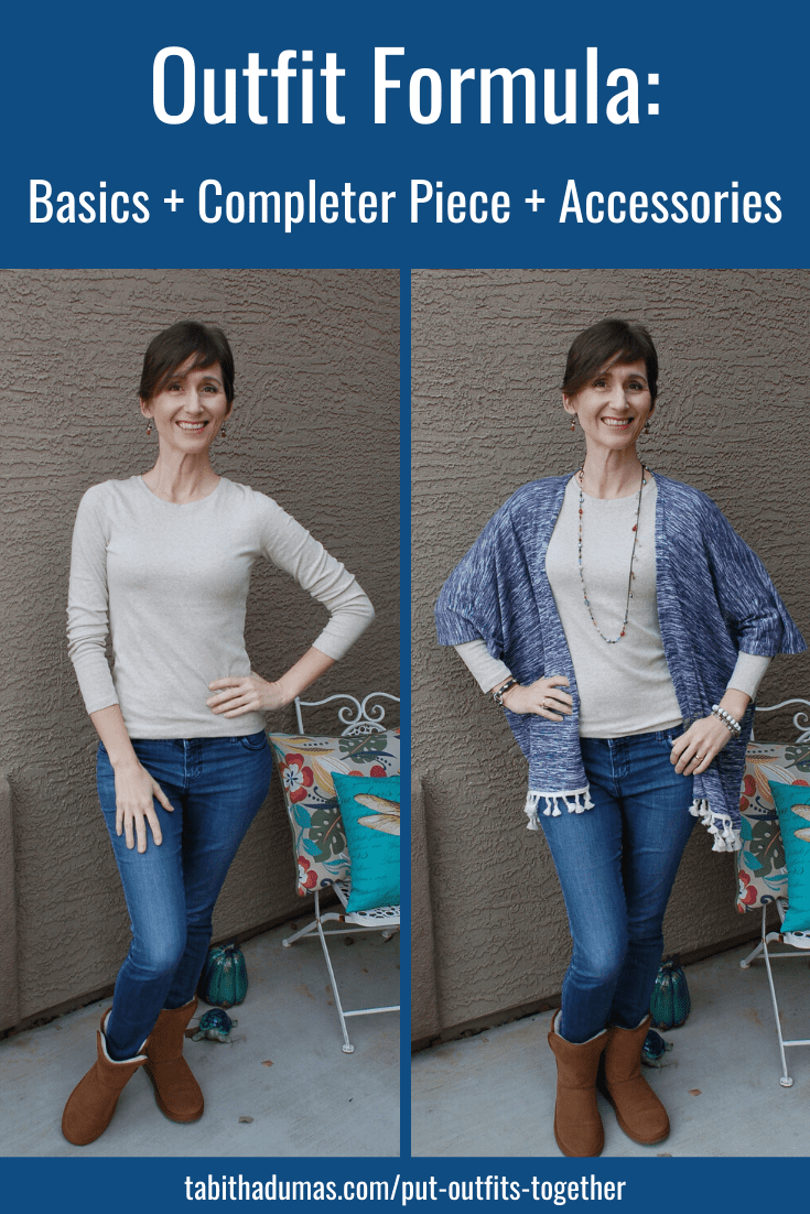 Outfit formula basics plus completer piece plus jewelry tabitha dumas phoneix image consultant