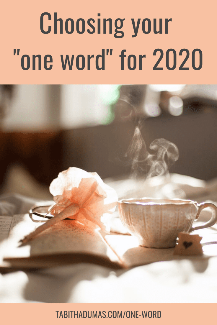 Choosing your One Word for 2020 with Tabitha Dumas