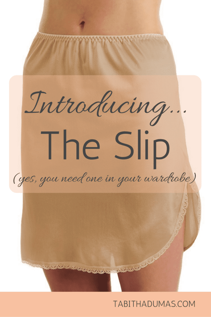 Introducing...The Slip. Here's what a slip is and why you need one. -tabithadumas.com