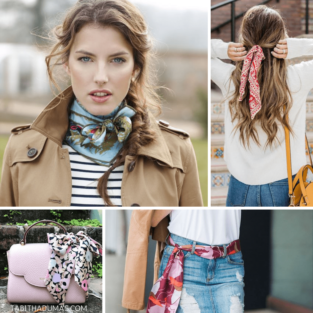 Spring image tips from Tabitha Dumas Phoenix Image Consultant. Wearing scarves for spring.