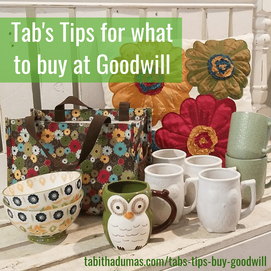 Tab's Tips for What To Buy at Goodwill from Tabitha Dumas Phoenix Image Consultant