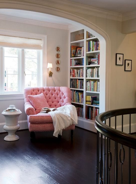 Cozy reading nook. Every woman needs a spot. Here's why and how. tabithadumas.com