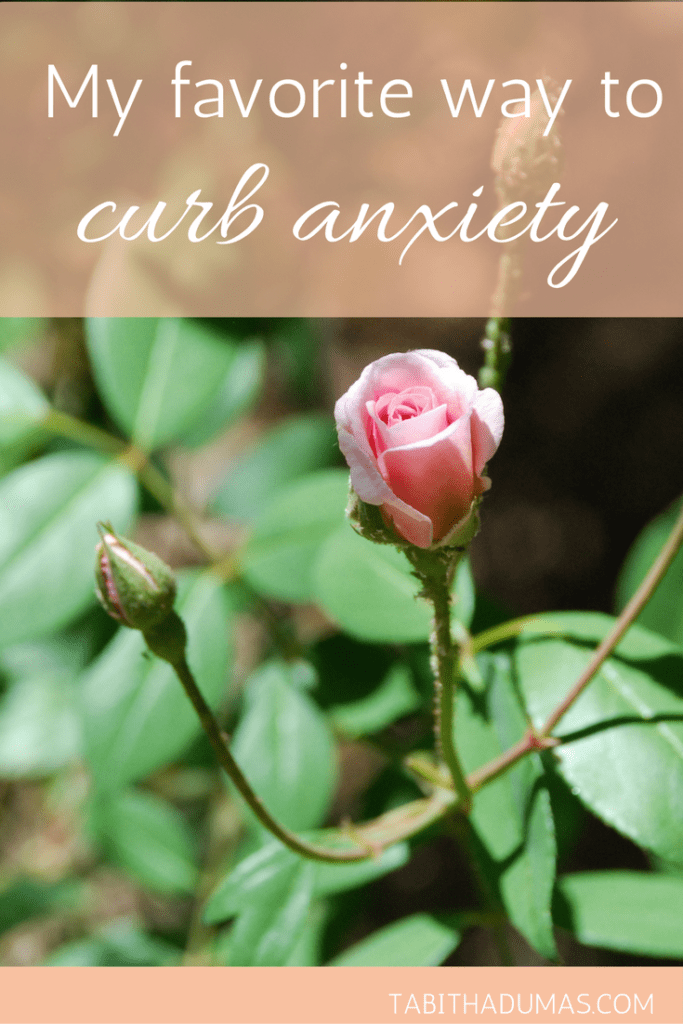 My favorite way to curb anxiety. It's simple but not easy. -tabitha dumas