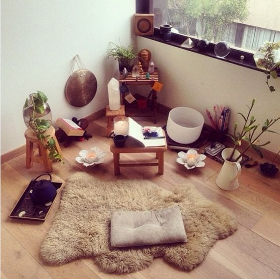 Meditation corner. Every woman needs a spot. Here's why and how. tabithadumas.com