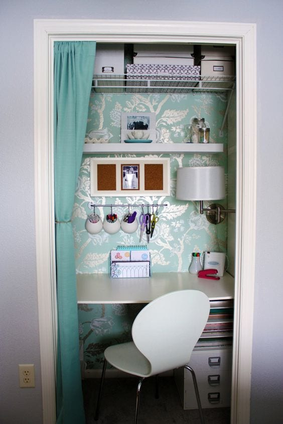 A closet office space. Every woman needs a spot. Here's why and how. tabithadumas.com