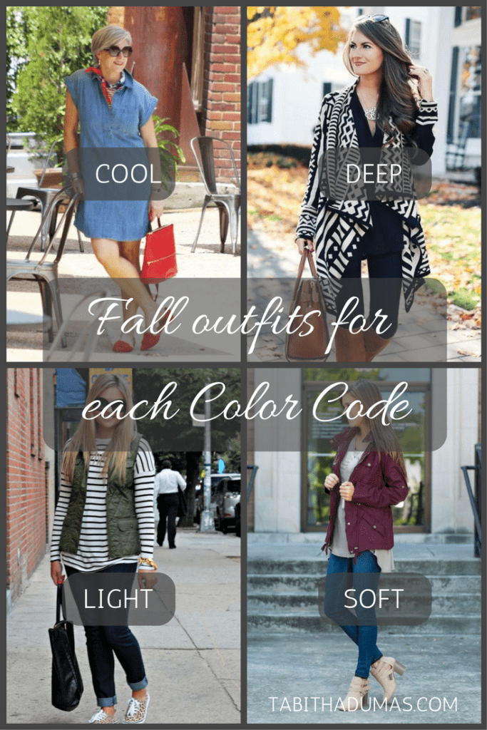 Your Color Code! Fall outfits for each Color Code -tabithadumas.com Tabitha Dumas Phoenix Image Consultant