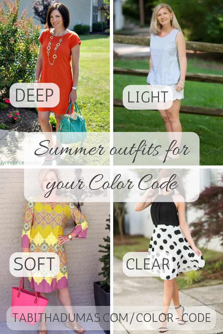 Summer outfits for your Color Code from Tabitha Dumas tabithadumas.com image consultant phoenix color analysis