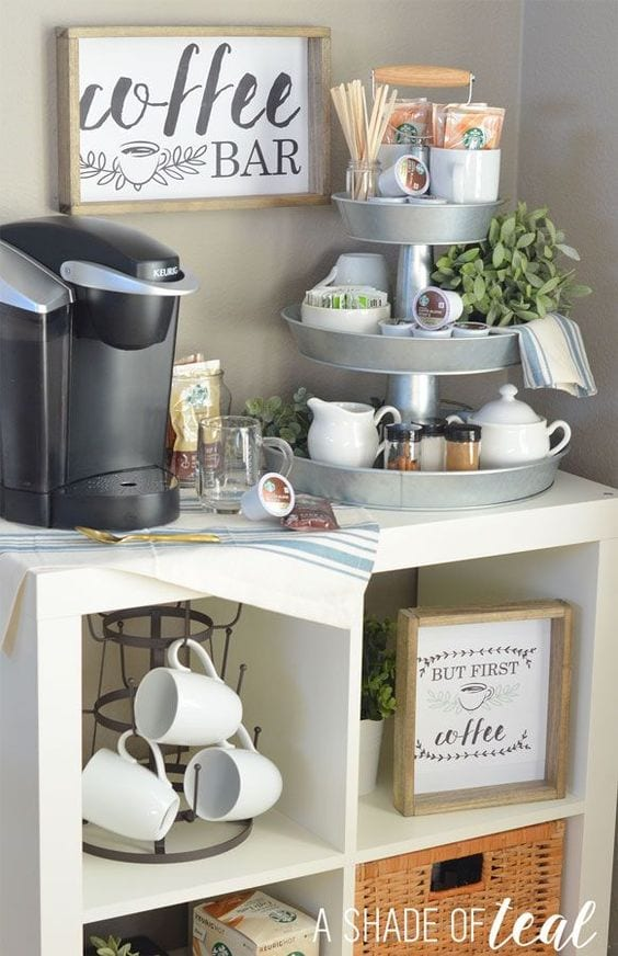 Create A Coffee Tea Station Tabithadumas Tabitha Dumas Lifestyle Ikea Shelves