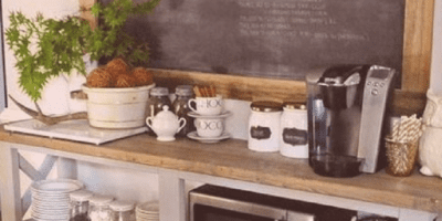 Create a coffee tea station!
