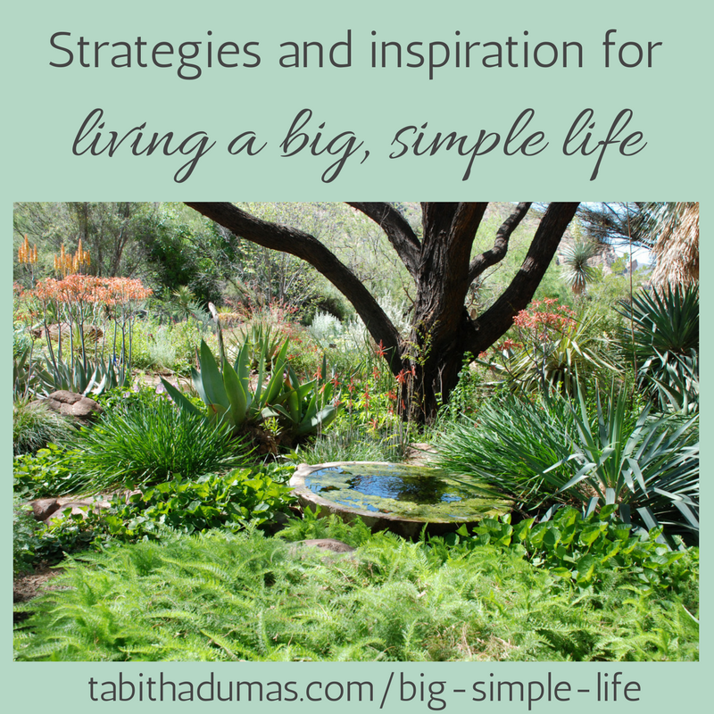 living a big simple life --tabithadumas.com Tabitha Dumas