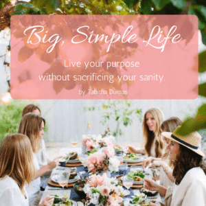 Big, Simple Life book by Tabitha Dumas Phoenix Image Consultant