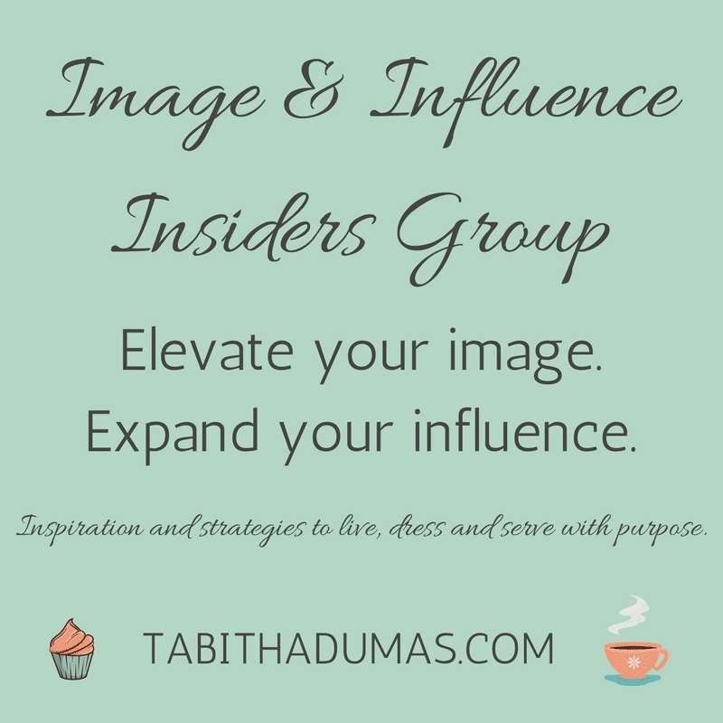 Image & Influence Insiders Group on Facebook from tabithadumas.com