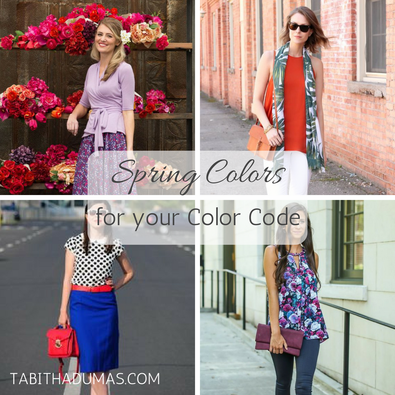 Spring Colors for your Color Code -tabithadumas.com