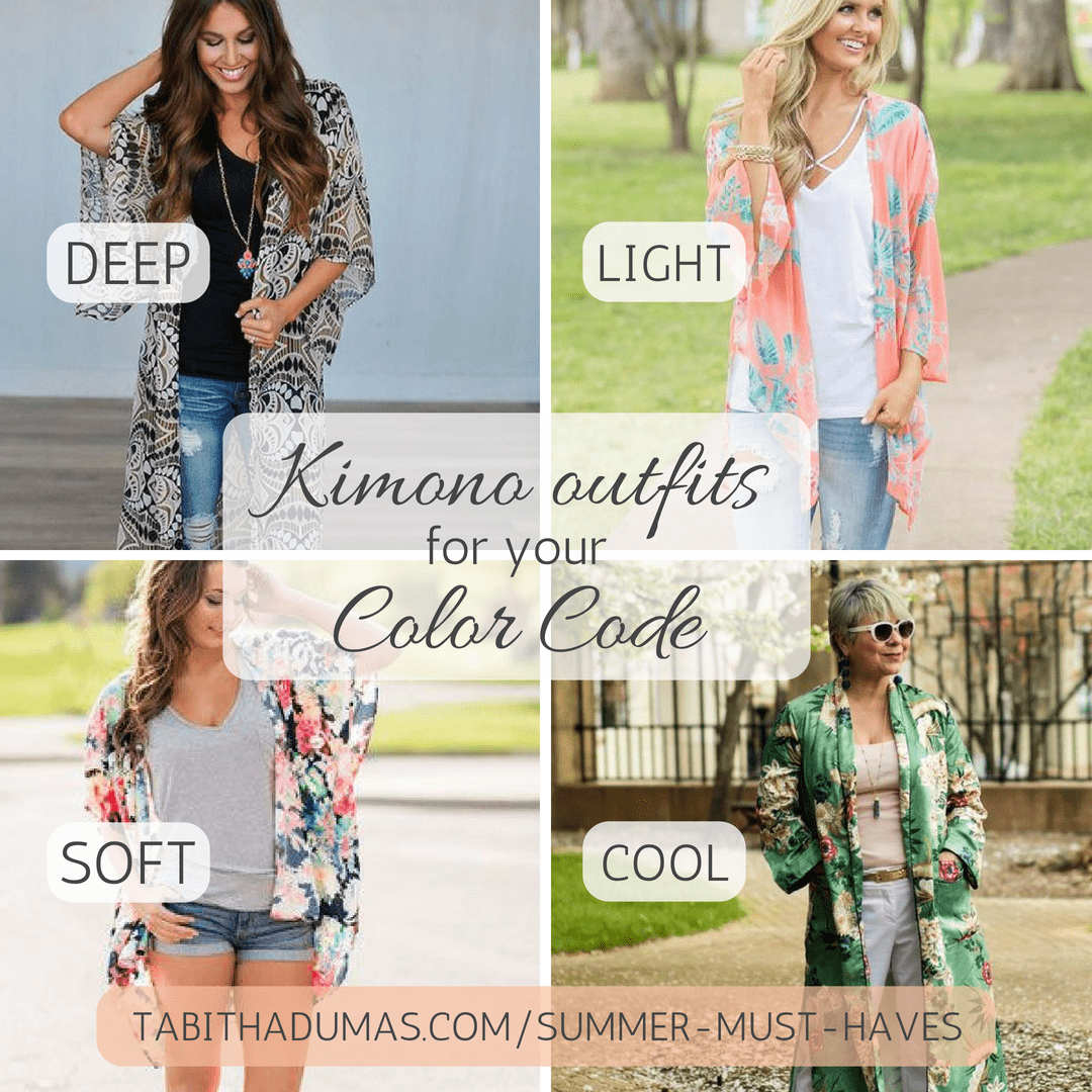 Kimono outfits for your Color Code. Tabitha Dumas Phoenix Image Consultant. Find out your Color Code. Deep color code soft color code light color code cool color code
