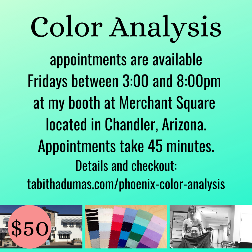 Phoenix Color Analysis appointments with Tabitha Dumas Image Consultant