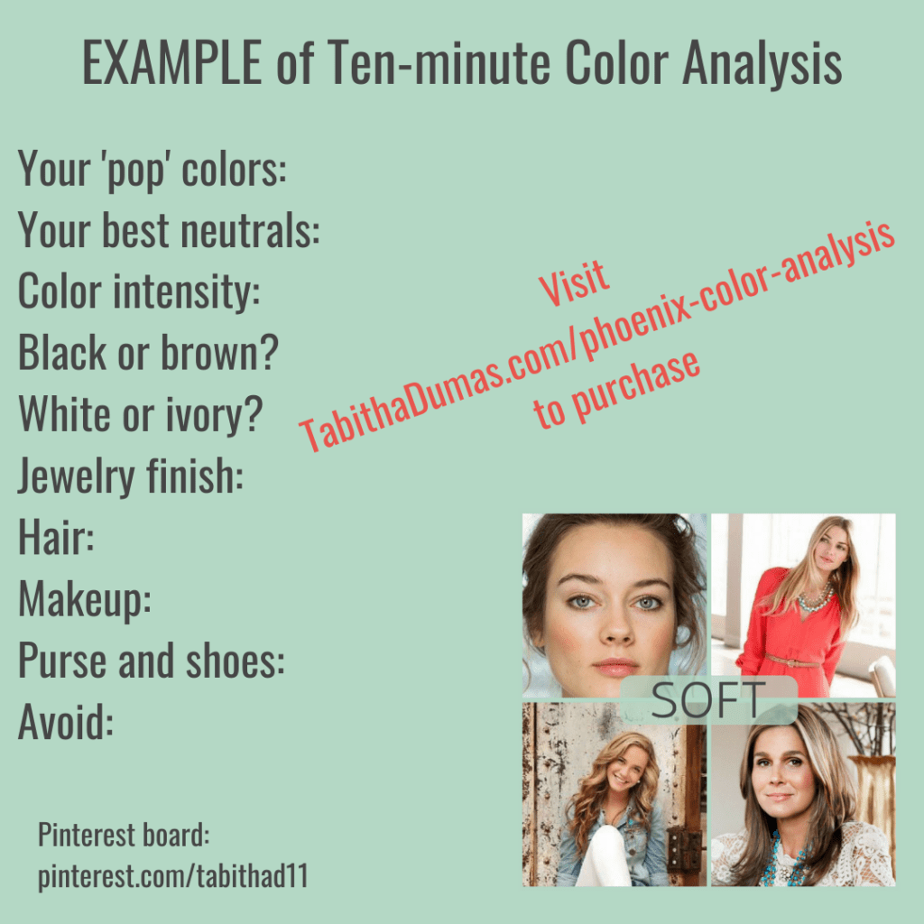 Virtual Color Analysis from Tabitha Dumas Phoenix Image Consultant