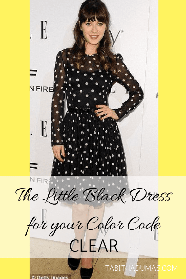 The Little Black Dress for your Color Code CLEAR - Tabitha Dumas Phoenix Image Consultant