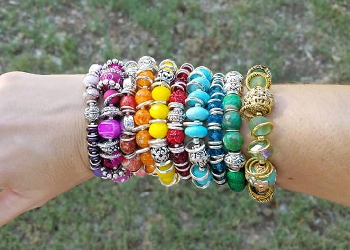 Signature Color bracelets! A rainbow arm party! Tabitha Dumas Discover Your Signature Color Phoenix color analysis