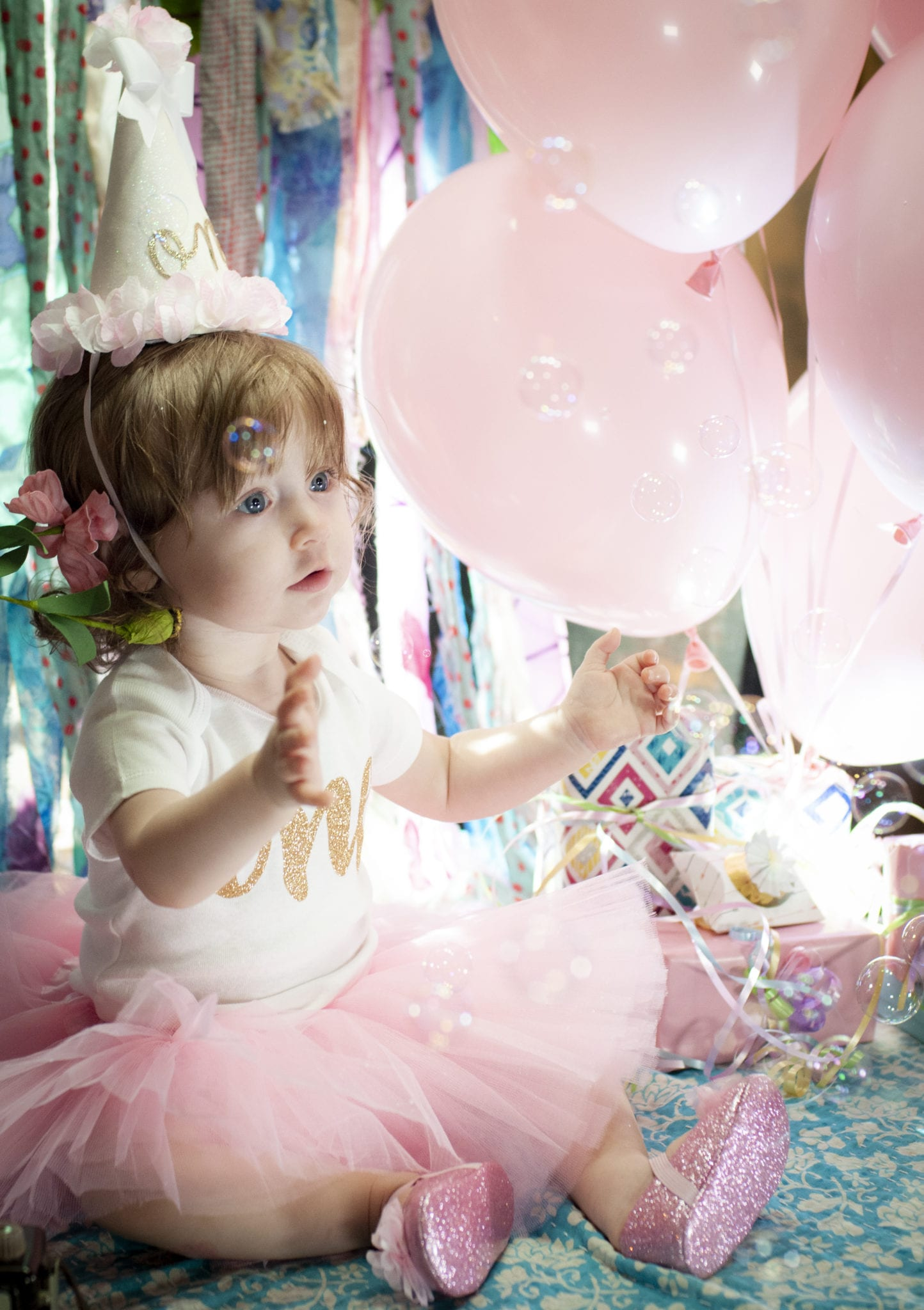 Kate's first birthday photo session with Phileo Photography Gilbert