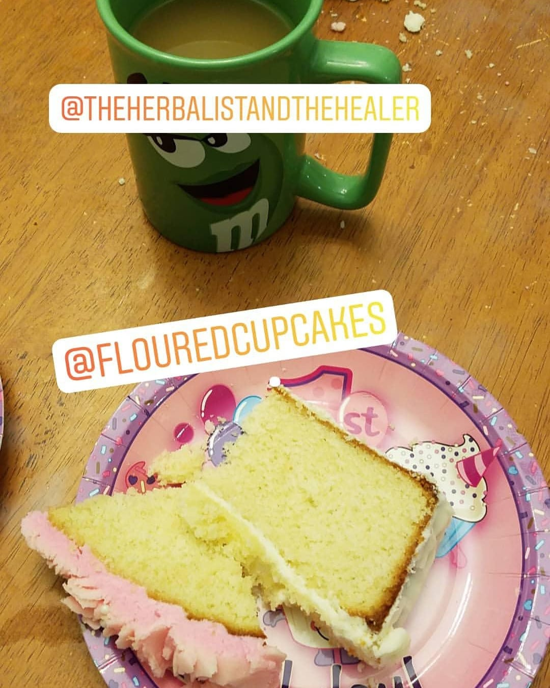 I love the after party! Chai tea from The HeErbalist and the Healer. Giant cupcake from Floured Cupcakes Tabitha Dumas