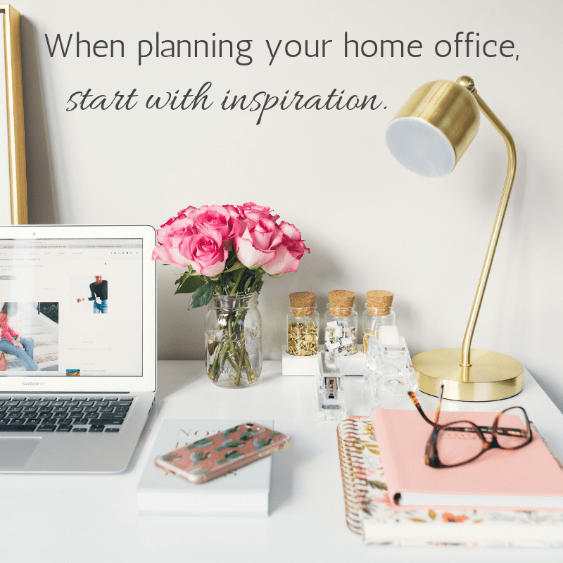 When planning a home office space, start with inspiration. Lots of great tips about setting up your home office to help you work smarter. Tabitha Dumas small business consultant