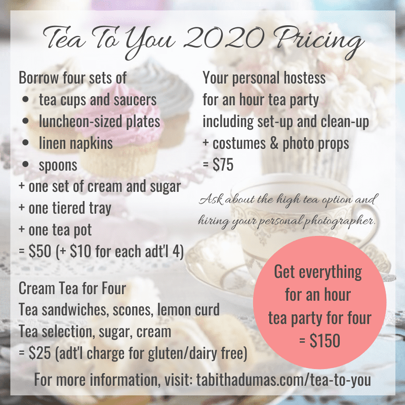 Tea To You with Tabitha Dumas. The tea party that comes to your door!