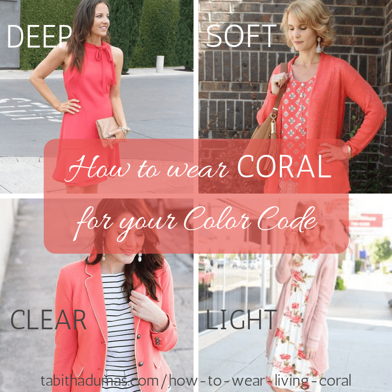 How to wear coral for your color code and how to wear Living Coral the Pantone Color of the Year 2019 by Tabitha Dumas Phoenix Image Consultant