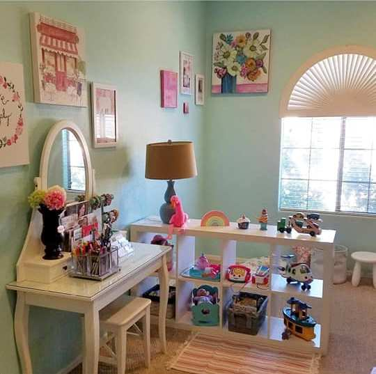 Home office and play room I share with my daughter.Tabitha Dumas Phoenix Image Consultant Phoenix color analysis home studio Chandler, Arizona
