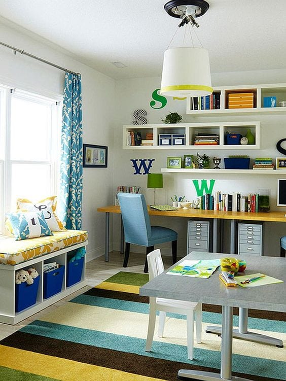 Working from home. A shared office and playroom space. Tabitha Dumas phoenix image consultant