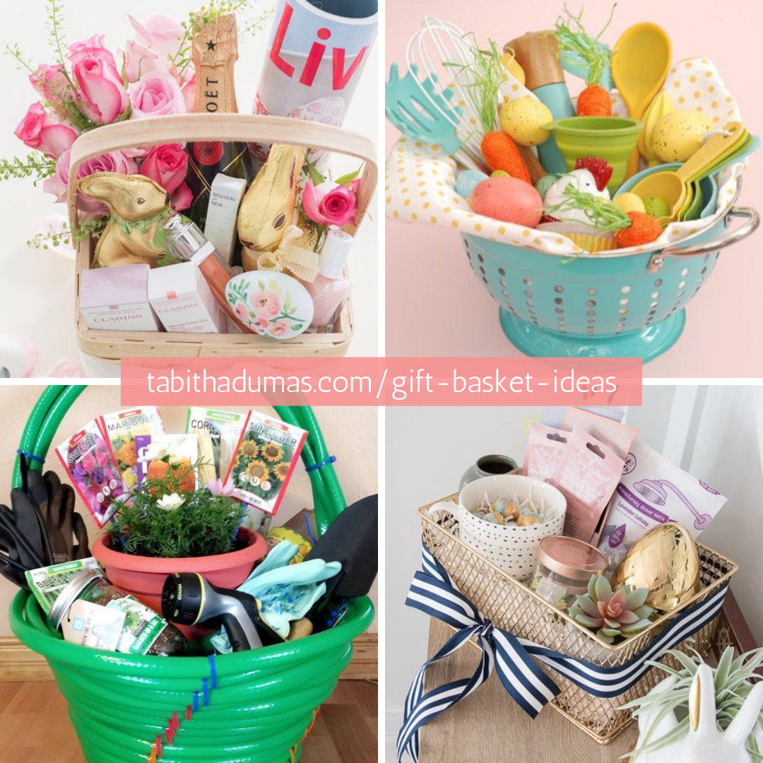 grown up Easter basket and gift basket ideas Tabitha Dumas