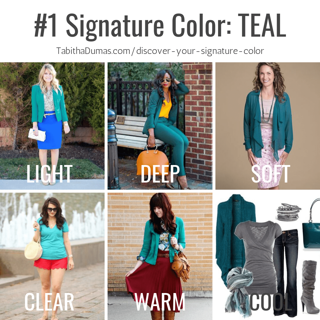 Find your Signature Color with Discover Your Signature Color from Tabitha Dumas Phoenix Image Consultant teal signature color