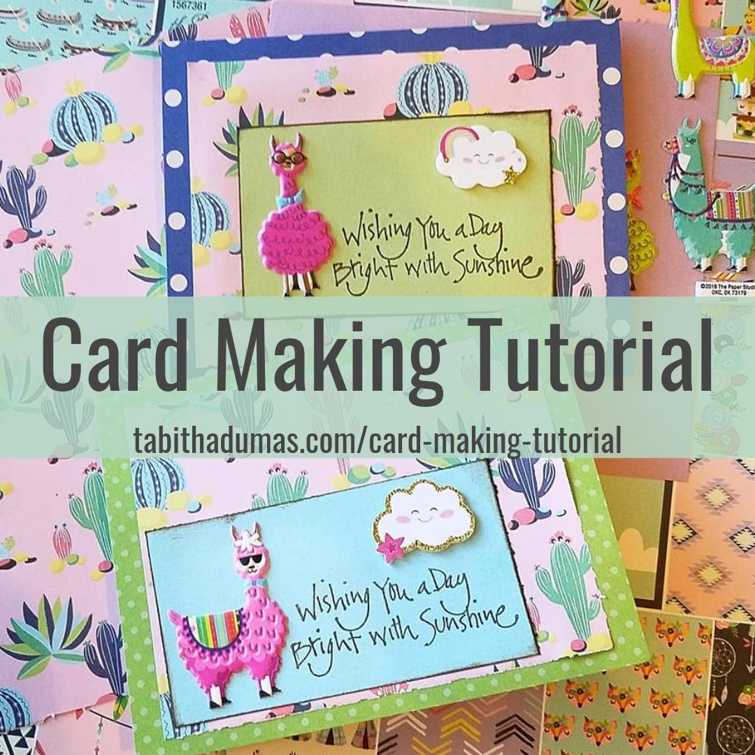 Card making tutorial Tabitha Dumas