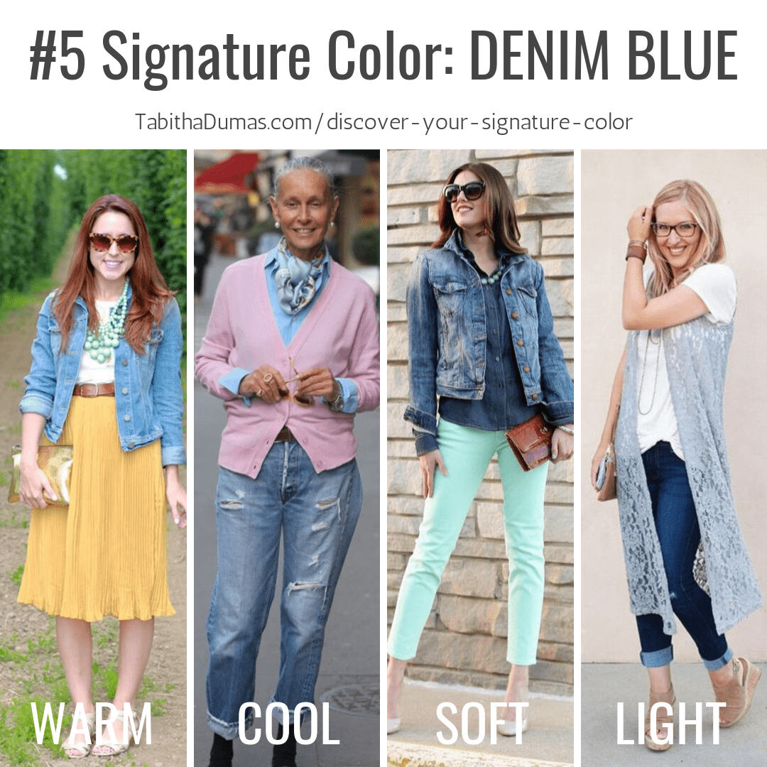 Find your Signature Color with Discover Your Signature Color from Tabitha Dumas Phoenix Image Consultant denim blue signature color