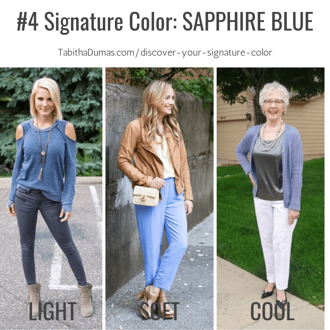 Find your Signature Color with Discover Your Signature Color from Tabitha Dumas Phoenix Image Consultant sapphire blue signature color
