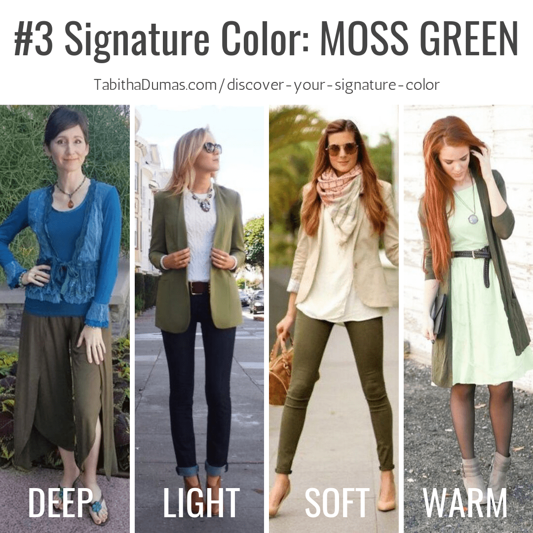 Find your Signature Color with Discover Your Signature Color from Tabitha Dumas Phoenix Image Consultant moss green signature color