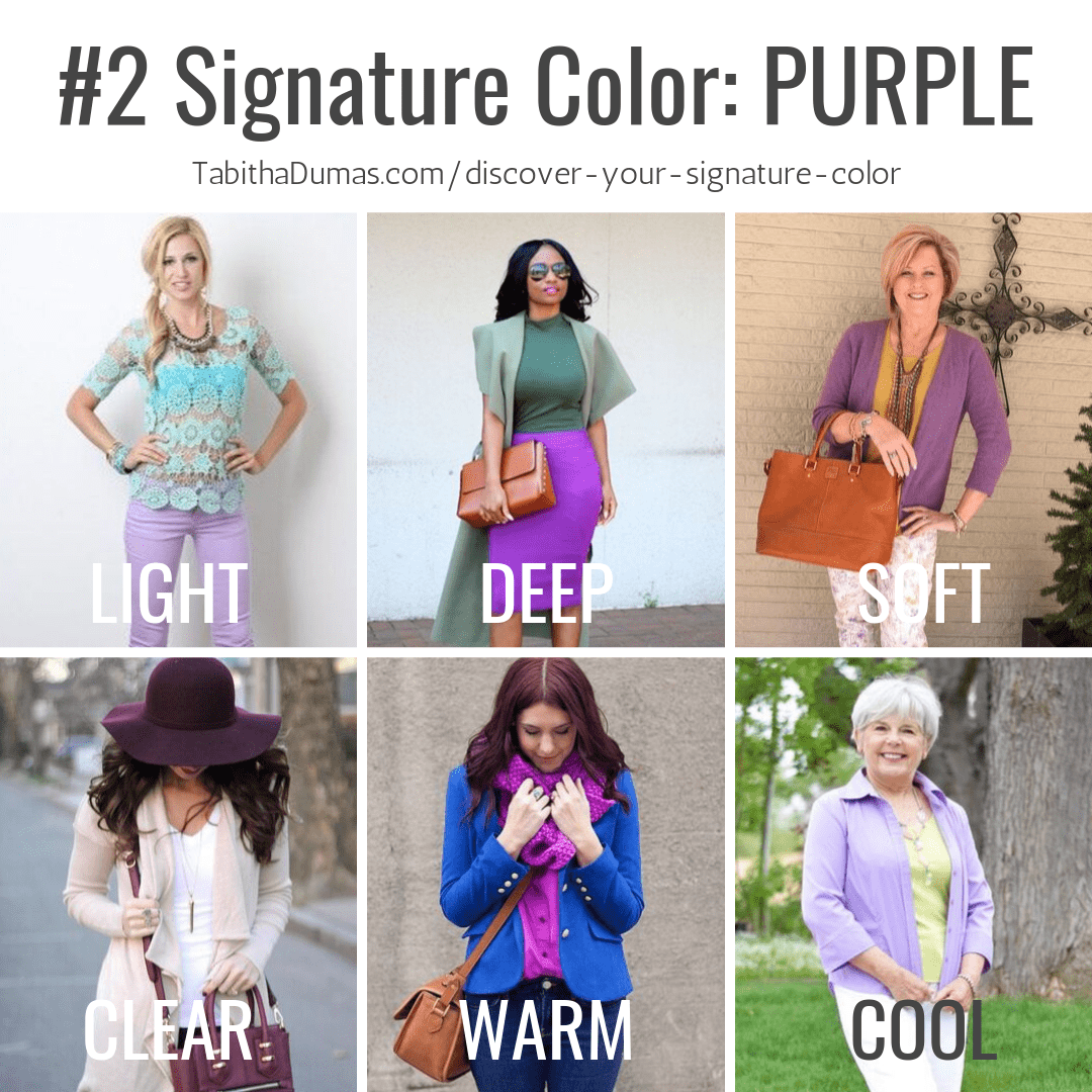 Find your Signature Color with Discover Your Signature Color from Tabitha Dumas Phoenix Image Consultant purple signature color