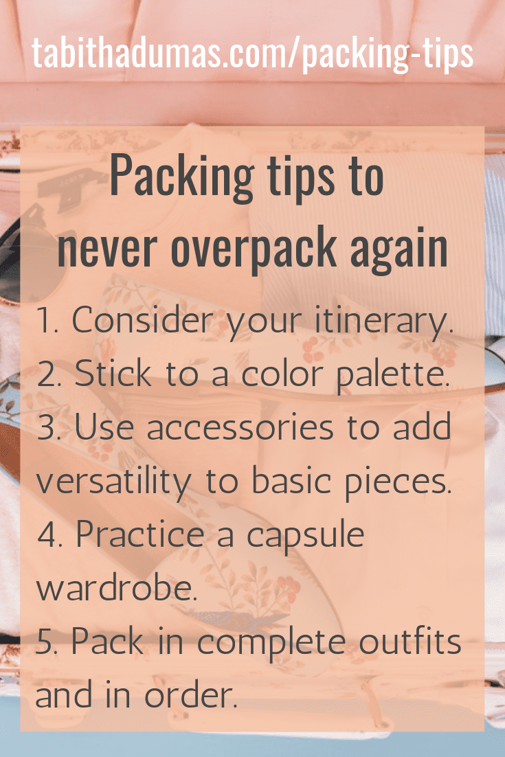 Never overpack again! packing tips from tabitha dumas phoenix image consultant