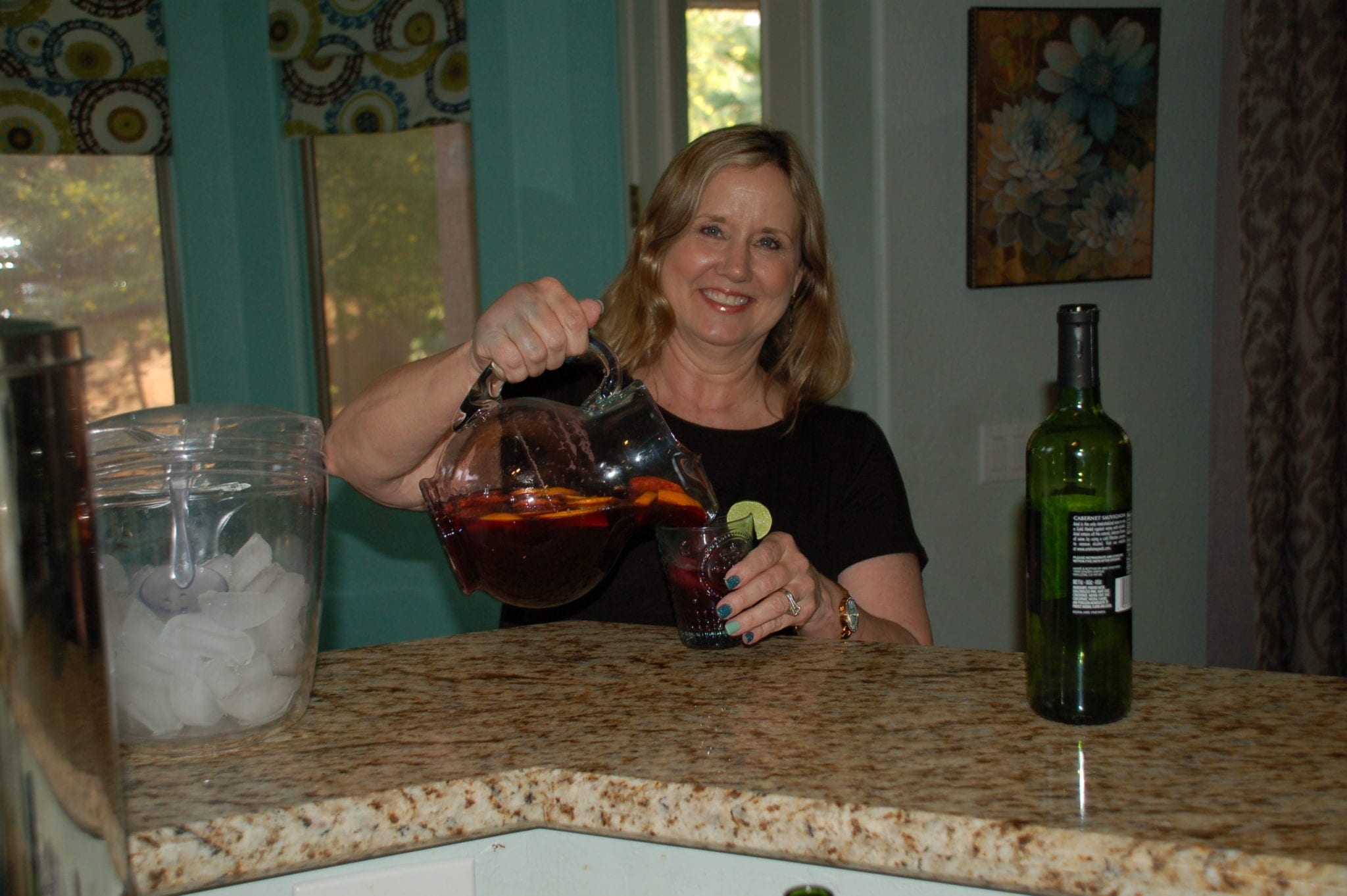 Hosting a girls' night in. Allow your guests to bring beverages. Tabitha Dumas