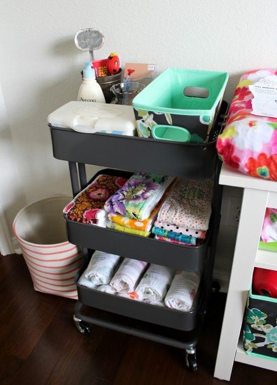 3-tier cart ideas nursery beautiful eclectic nursery organization