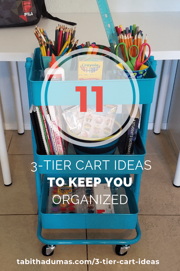3-tier cart ideas to keep you organized from Tabitha Dumas Phoenix Image Consultant