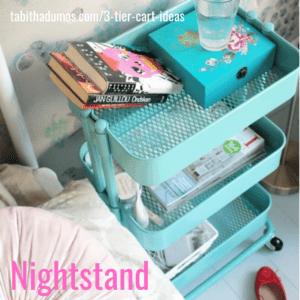 3-tier cart ideas to keep you organized from Tabitha Dumas