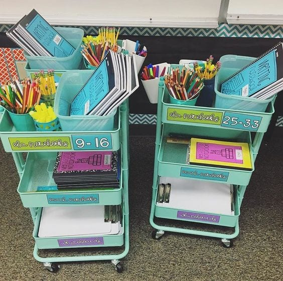 3-tier cart for the classroom Tabitha dumas