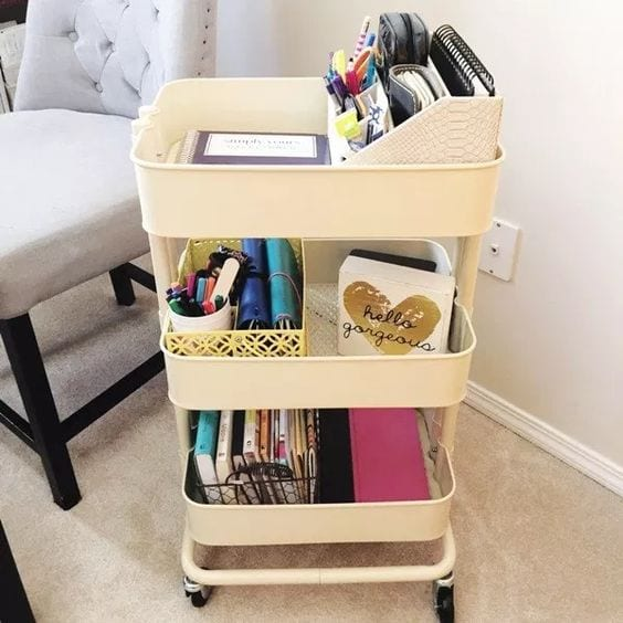 3-tier cart ideas portable office home office