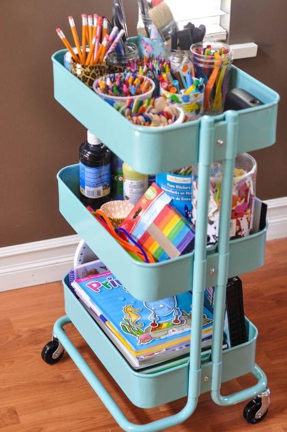 3-tier cart ideas arts and craft supplies Tabitha Dumas