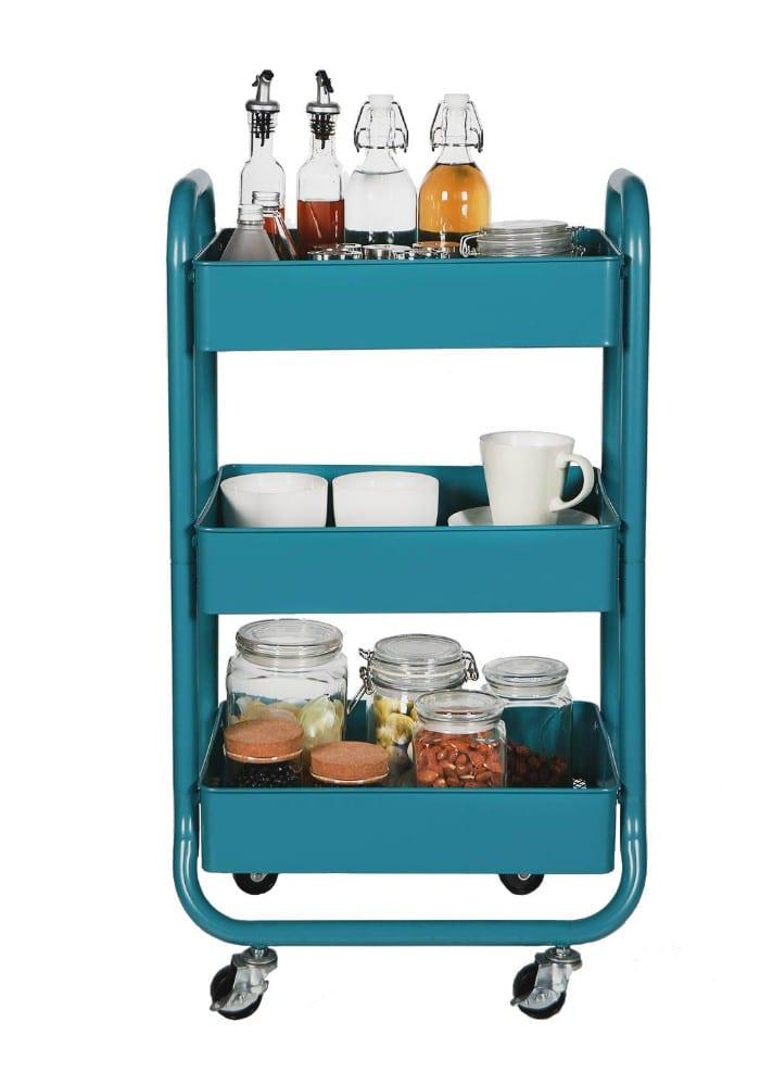 3-tier cart ideas coffee tea bar Tabitha Dumas
