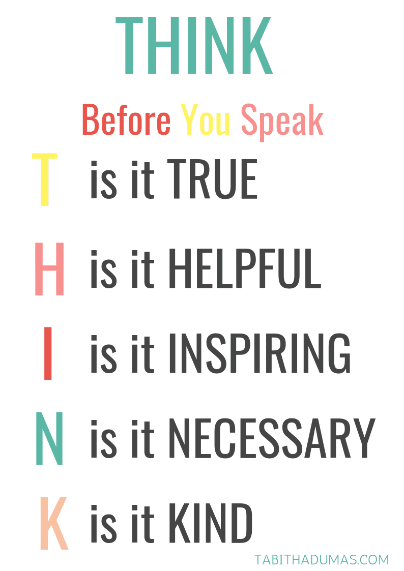 THINK Before You Speak tabithadumas.com