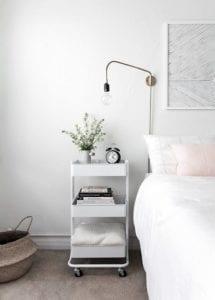 3-tier cart bedside table nightstand Tabitha Dumas