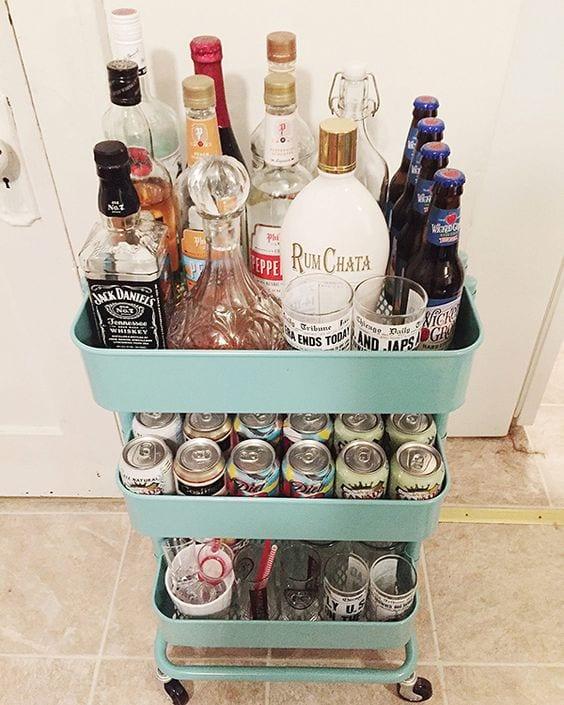3-tier cart ideas beverage cart bar cart Tabitha Dumas