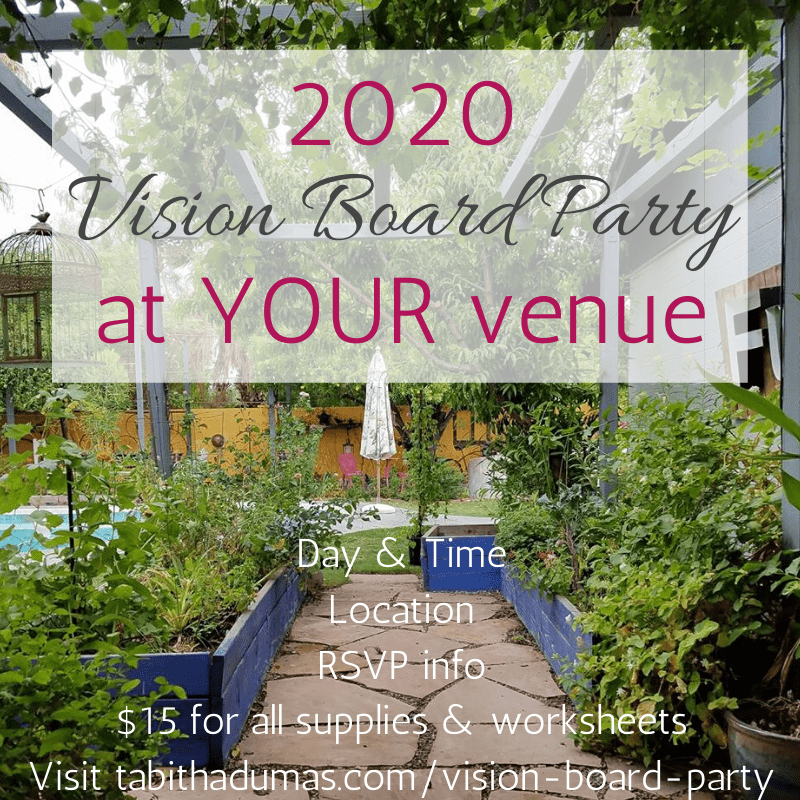 Vision board party brought to your venue! Tabitha Dumas Workshops To You