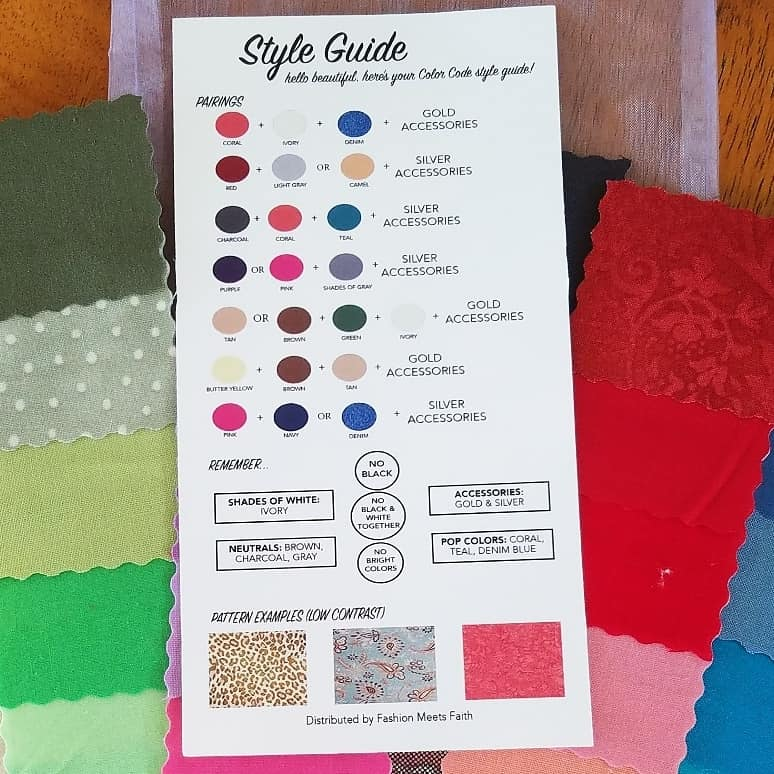 SOFT color code fabric swatches Tabitha Dumas Phoenix Image Consultant